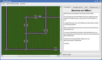 Capture d'écran de notre interface de gestion de Bus