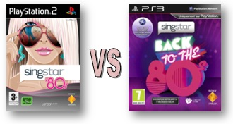 Singstar PS2 80s VS Singstar PS3 Back to the 80's